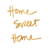 Home Sweet Home Square (gold foil) Plakater