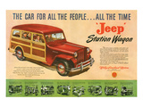 Jeep Station Wagon Car for All Pósters