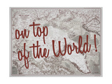 On Top of the World - 1983 Arctic Ocean Map Giclée-Druck von  National Geographic Maps
