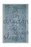 Dare to Dream in a City the Never Sleeps - 1867, New York City, Central Park Composite Map Giclée-Druck