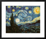 Starry Night, c.1889 Framed Giclee Print by Vincent van Gogh