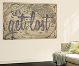 Let's Get Lost - 1562, World Map Mural