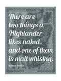 Scottish Proverb on What a Highlander Likes Naked - 1855, Scotland Map Giclée-Druck