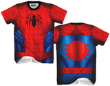 Spiderman Sublimated Costume Tee T-Shirt
