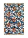 Panel of Isnik Earthenware Tiles from the Baths of Eyup Eusaki, Istanbul, circa 1550-1600 Metalltrykk