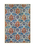 Panel of Isnik Earthenware Tiles from the Baths of Eyup Eusaki, Istanbul, circa 1550-1600 Metal Print
