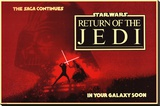 Star Wars - Return of the Jedi circles Stretched Canvas Print