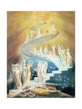 Jakobsleiter Metalldrucke von William Blake