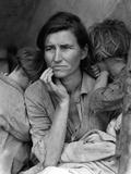 Migrant Mother, 1936 Kunst på metal af Dorothea Lange