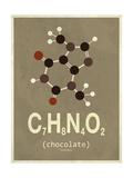 Molecule Chocolate Kunst på metal