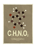 Molecule Chocolate Metalldrucke