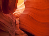 Sunlight Filters Down Carved Red Sandstone Walls of Lower Antelope Canyon, Page, Arizona, Usa Metal Print by Paul Souders