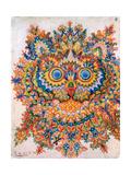 Kaleidoscope Cats IV Metalldrucke von Louis Wain