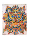 Kaleidoscope Cats IV Metal Print by Louis Wain