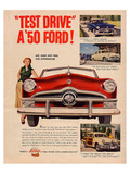 Test Drive a '50 Ford! Posters