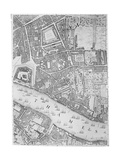 A Map of the Tower of London, 1746 Giclee Print by John Rocque