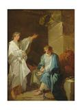 St Sebastian Preaching the Faith of Diocletian in Prisons Giclée-Druck von Francois Andre Vincent