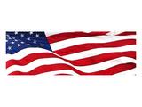 Pnoramic American Flag Kunstdrucke
