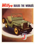 Willys Jeep Cars and Trucks Affiches