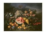 Naturaleza muerta Lámina giclée por Bartolomeo Bimbi