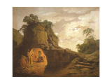 Virgil's Tomb, with the Figure of Silius Italicus, 1779 Giclee Print by Joseph Wright
