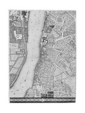 A Map of Lambeth and Vauxhall, London, 1746 Giclee Print by John Rocque