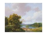 Rural Landscape, 19th Century Giclee-trykk av Barend Cornelis Koekkoek
