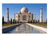 Taj Mahal & Pond in Agra India Art