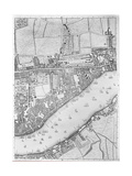 A Map of Wapping, London, 1746 Giclee Print by John Rocque