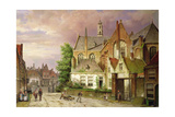 Two Men with a Cart Giclee Print by Willem Koekkoek