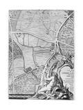 A Map of St George's Fields and Newington Butts, London, 1746 Giclee Print by John Rocque