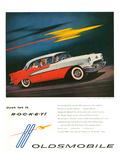 Oldsmobile-Just Let It Rocket Affiches