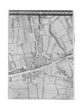 A Map of Mile End, London, 1746 Giclee Print by John Rocque