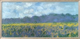 Iris Fields at Giverny Kunst af Claude Monet