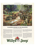 Willys Builds the Mighty Jeep Affiches