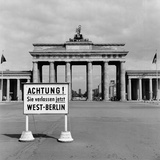 East-West Berlin Border 1961 Photographic Print by Terry Fincher