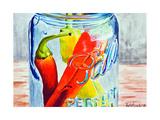 Ball Jar with Tree Peppers Kunstdrucke von Jennifer Redstreake Geary
