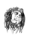 Bob Marley Bedruckte aufgespannte Leinwand von Octavian Mielu