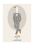 Goose in Pin Suit Posters by Olga Angellos