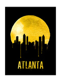 Atlanta Skyline Yellow Posters
