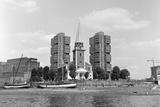 View across the Thames at Battersea. 21st August 1971 Photographic Print by  Staff