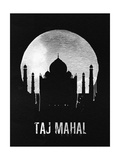 Taj Mahal Landmark Black Affiches