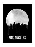 Los Angeles Skyline Black Poster