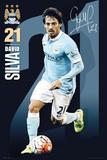 Man City- Silva 15/16 Poster