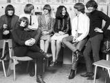 The Byrds at Fairfield Hall in Croydon 1965 Fotografisk tryk af Ian Bradshaw