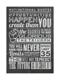 Opportunity Set Black Lámina por  Vintage Vector Studio