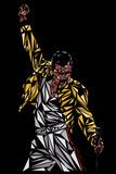 Freddie Mercury Kunstdrucke von Cristian Mielu