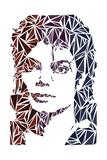 Michael Jackson, Engelse tekst: King of Pop Kunst van Cristian Mielu