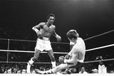 Dave 'Boy' Green V Sugar Ray Leonard - Apr 1980 Fotoprint av  Fresco