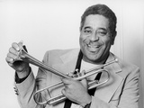 Dizzy Gillespie holding trumpet 1976 Photographic Print by Ian Spratt